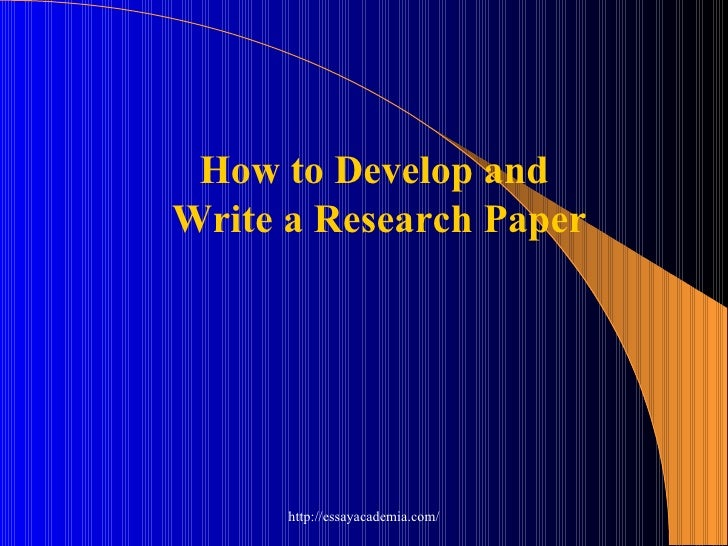 Library Develop Research Paper
