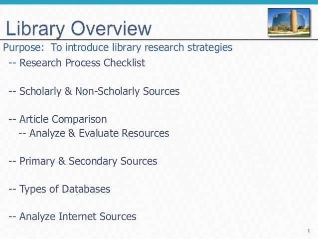 Library information research strategies overview