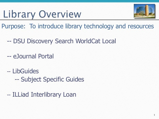 Library information technology and resources overview