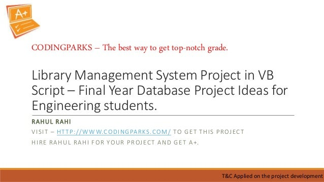 database projects for students