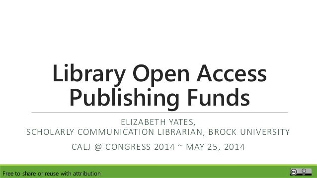 Library Open Access Publishing Funds