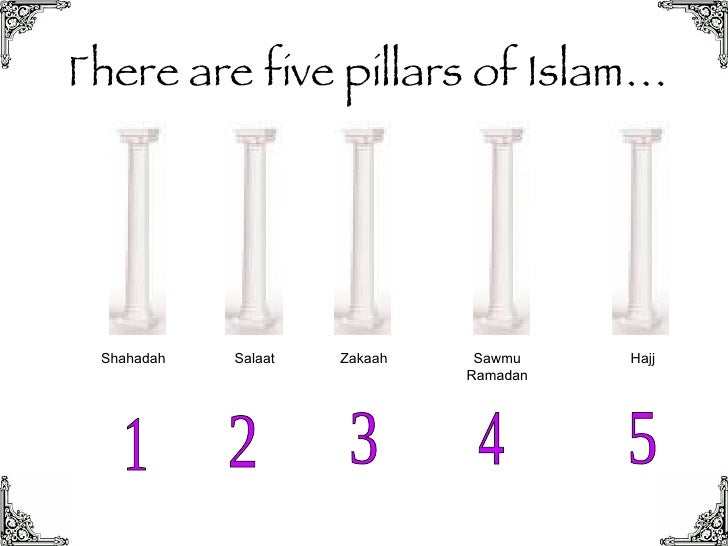 5 pillars of islam and 3 The 5 pillars of islam are the framework of the muslim life every year in the month of ramadhan (9th month of the islamic calendar (which is lunar, not solar)) all muslims fast from dawn until sundown, abstaining from food, drink, & sexual relationsalthough the fasting is beneficial to health, it is.