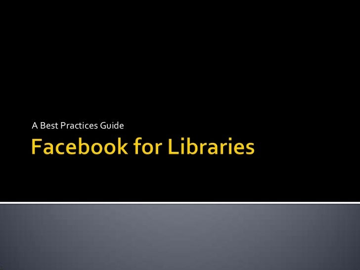 Facebook for Libraries