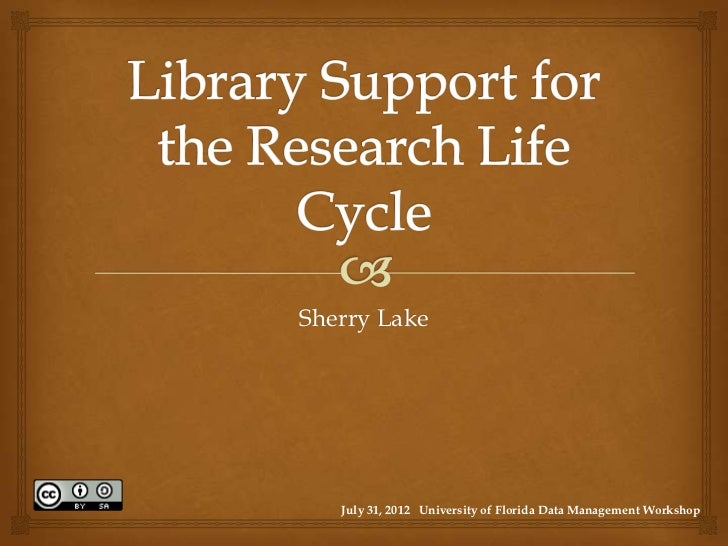 Sherry Lake   July 31, 2012 University of Florida Data Management Workshop