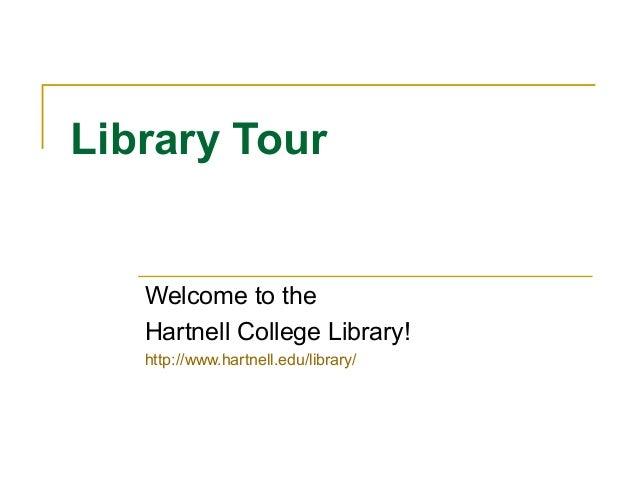 Library tour