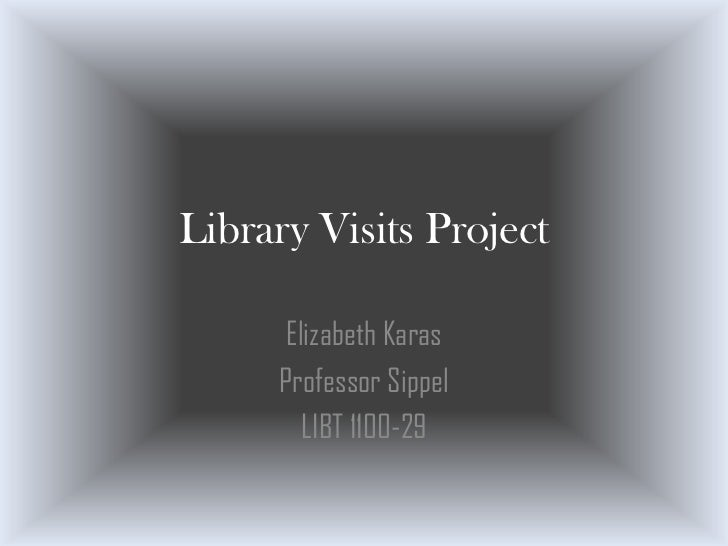Library Visits Project