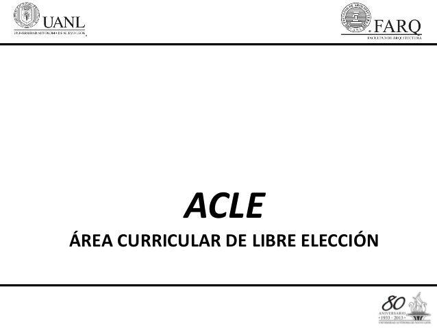 ACLEÁREA CURRICULAR DE LIBRE ELECCIÓN