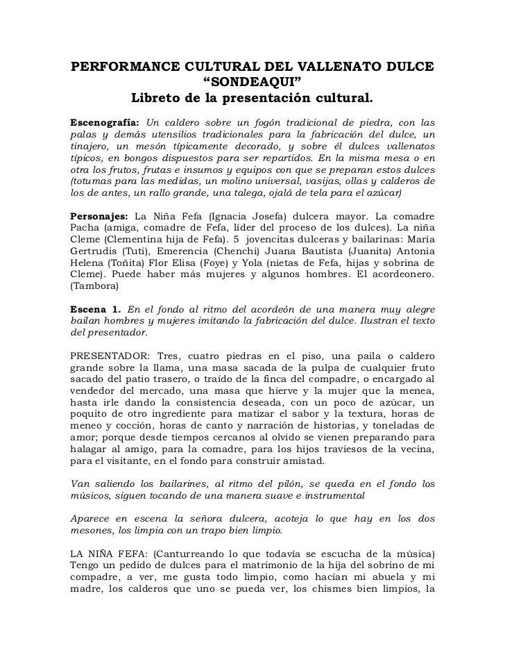 Libretos show cultural