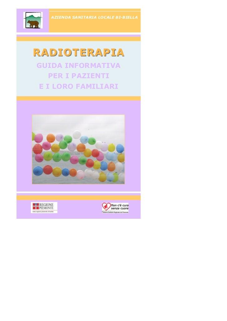 Libretto radioterapia