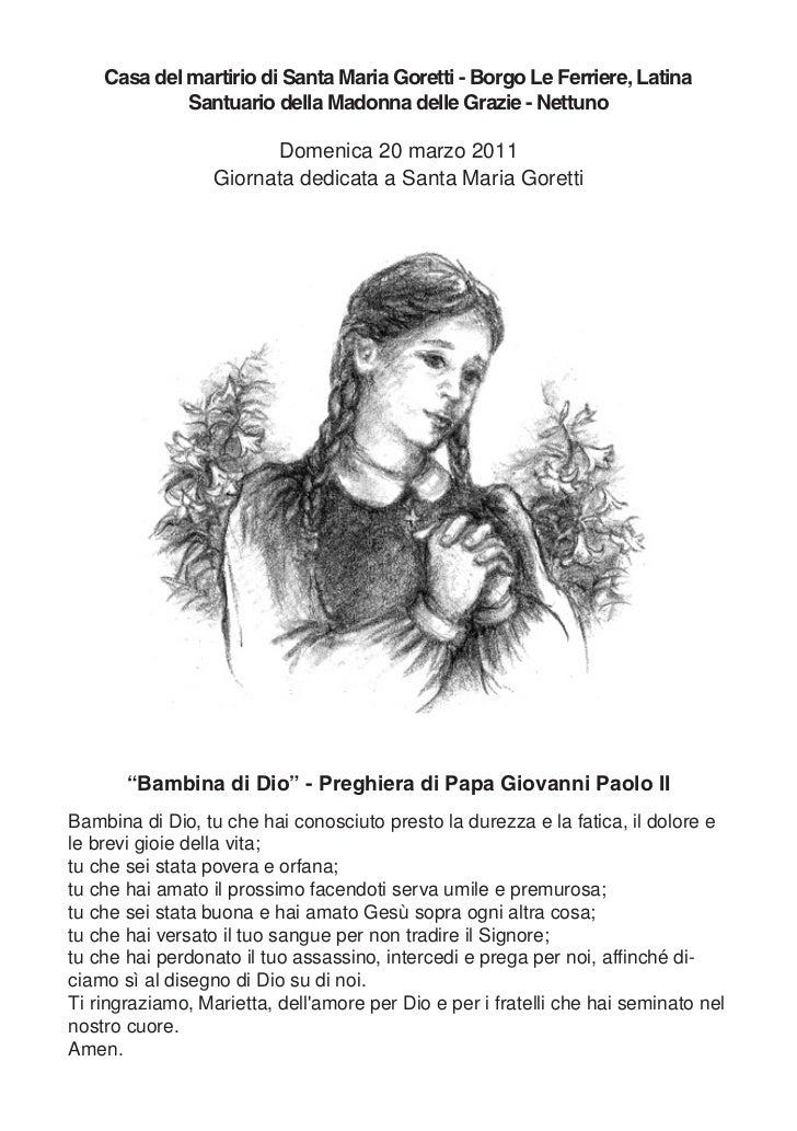 Casa del martirio di Santa Maria Goretti - Borgo Le Ferriere, Latina             Santuario della Madonna delle Grazie - Ne...