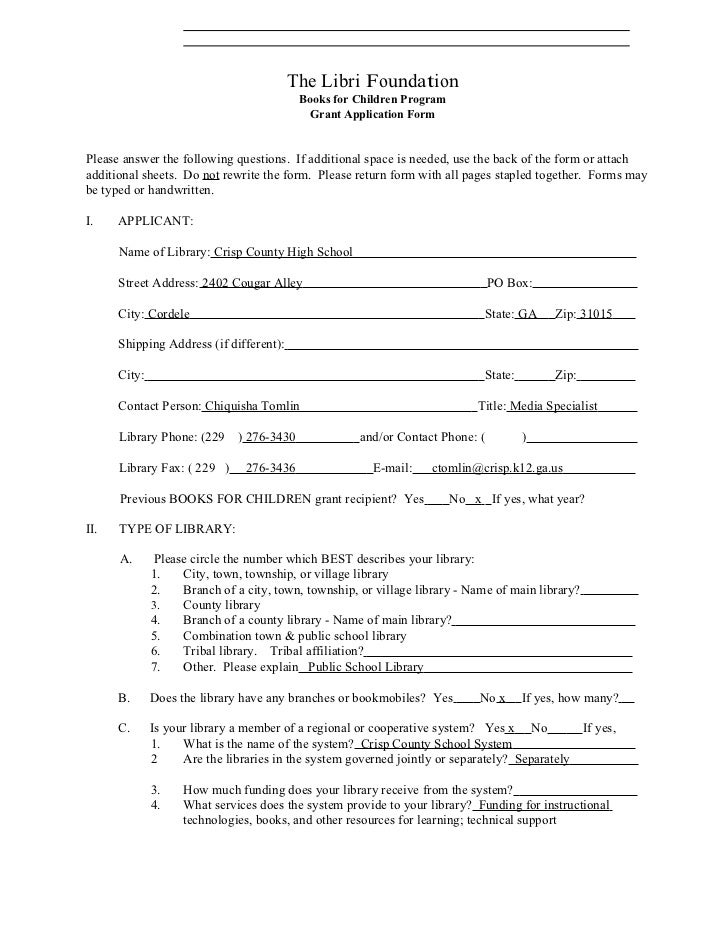 Grant Application2