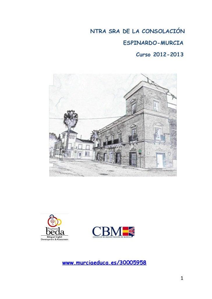 Librito organización pedagógica centro 2012 2013