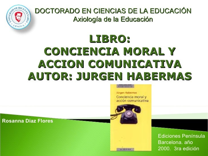 DOCTORADO EN CIENCIAS DE LA EDUCACIÓN                     Axiología de la Educación                     LIBRO:            ...