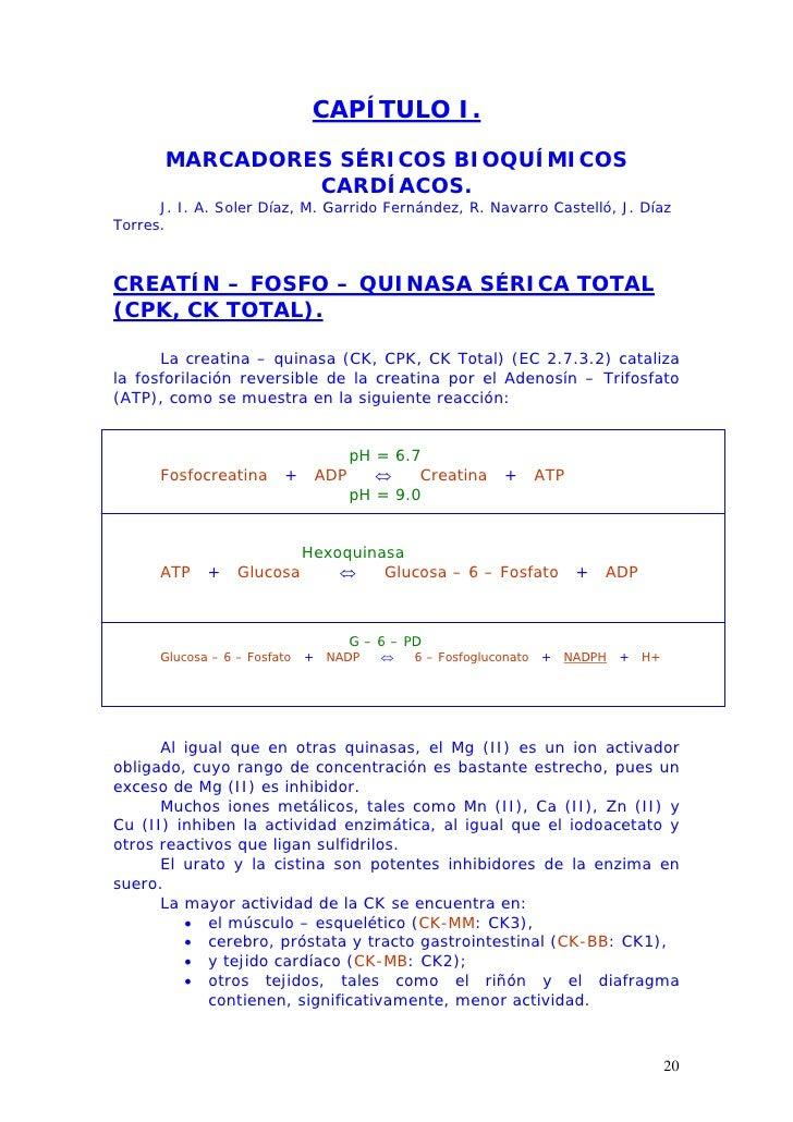 CAPÍTULO I.         MARCADORES SÉRICOS BIOQUÍMICOS                 CARDÍACOS.       J. I. A. Soler Díaz, M. Garrido Fernán...
