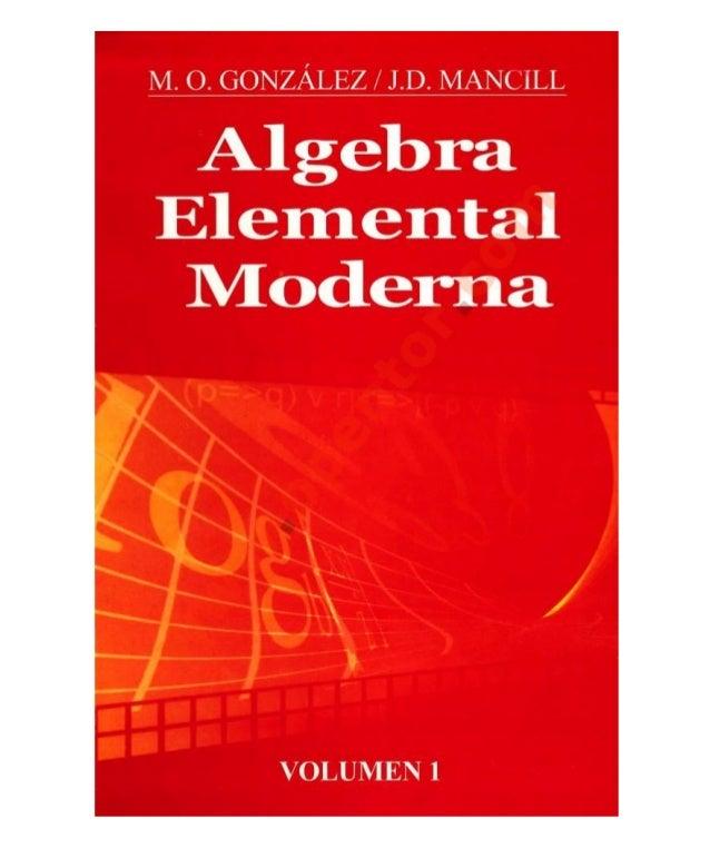Libro algebra de mancil