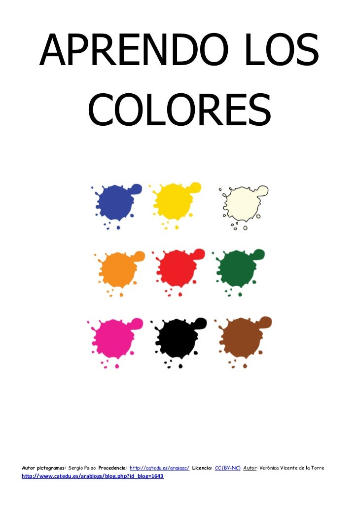 Libro aprendo los colores