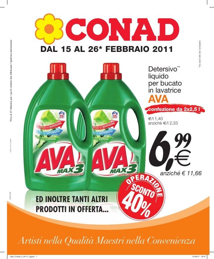 Offerte Conad Liguria dal 15 al 26 febbraio 2011