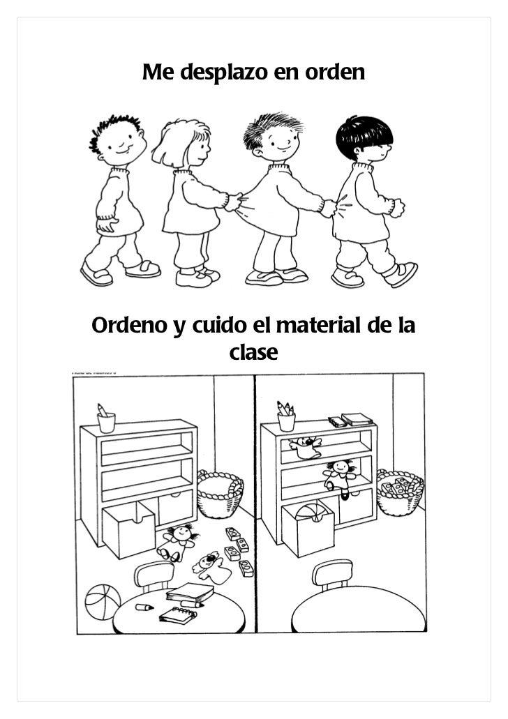 Libro con dibujos normas del colegio for Dibujos para comedor escolar