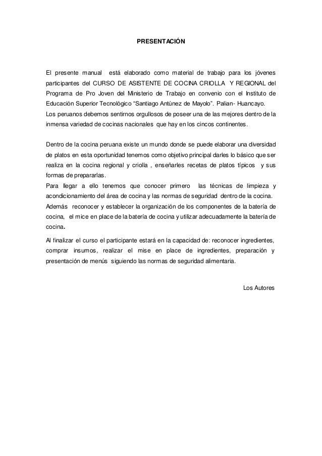 Manual de cocina criolla y regional for Manual de tecnicas de cocina