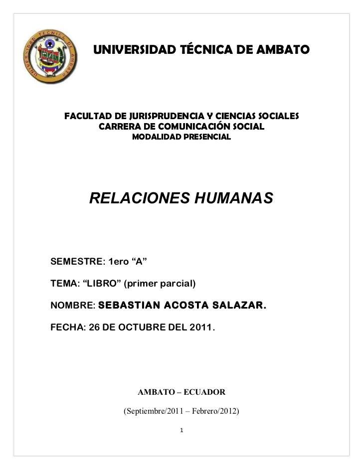 UNIVERSIDAD TÉCNICA DE AMBATO  FACULTAD DE JURISPRUDENCIA Y CIENCIAS SOCIALES        CARRERA DE COMUNICACIÓN SOCIAL       ...