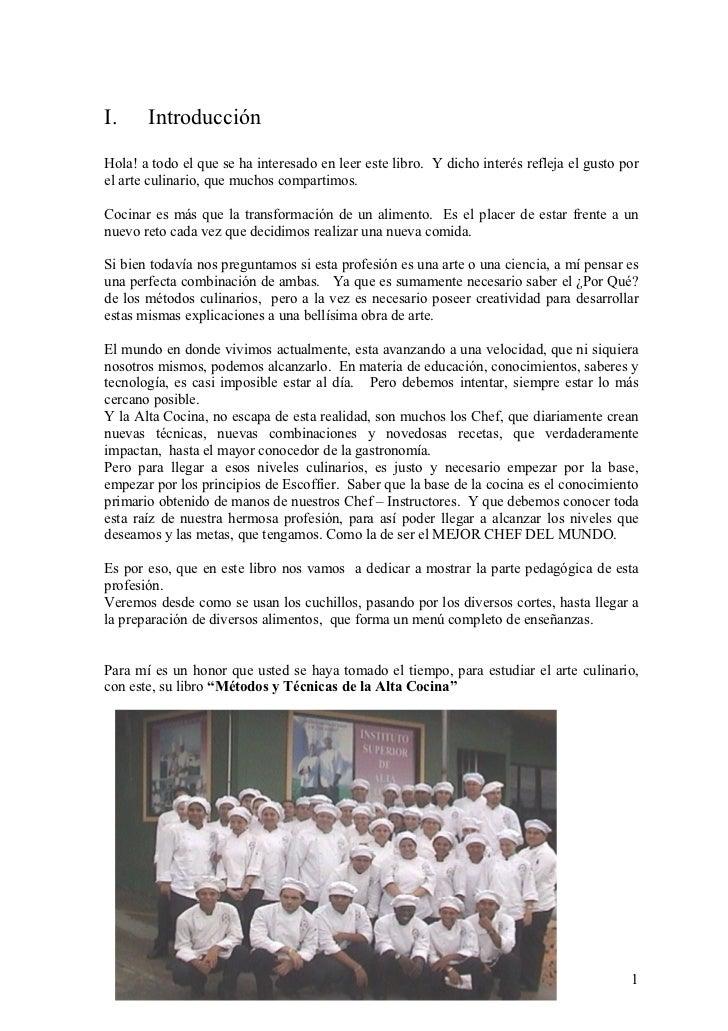 Libro de tecnicas culinarias i for Tecnicas culinarias pdf
