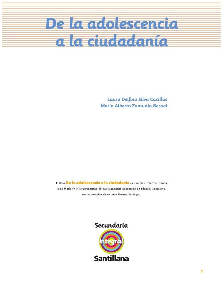 Libro de la Aolescencia a la Ciudadania