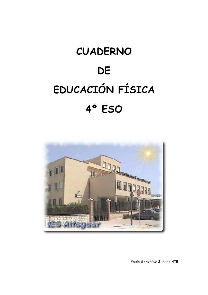 Cuaderno de Educacion Fisica 4ºESO
