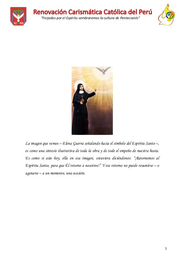 """""""Forjados por el Espíritu sembraremos la cultura de Pentecostés""""  La imagen que vemos – Elena Guerra señalando hacia el sí..."""