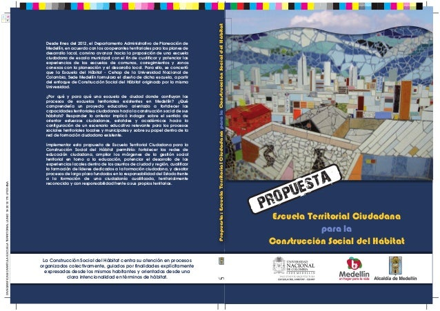 Propuesta Escuela Territorial Ciudadana para la Construcción Social del Hábitat