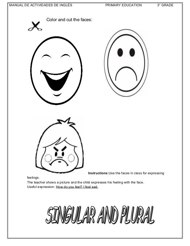Sad Face Worksheet : English activities for grade free printable worksheets