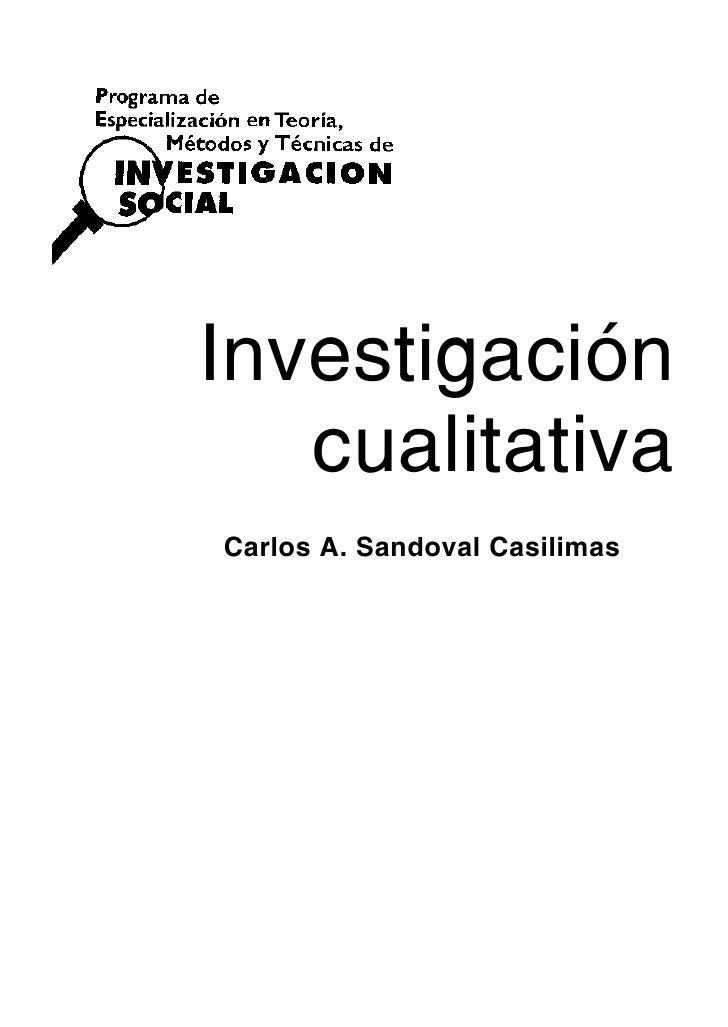 Libro investigación cualitativa