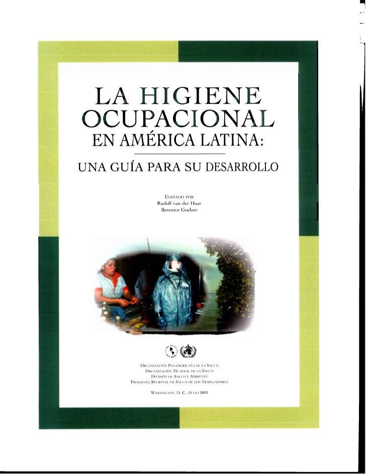Libro la higiene ocupacional