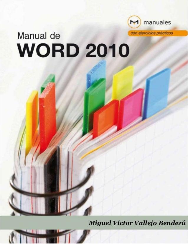 Libro Microsoft Word 2010