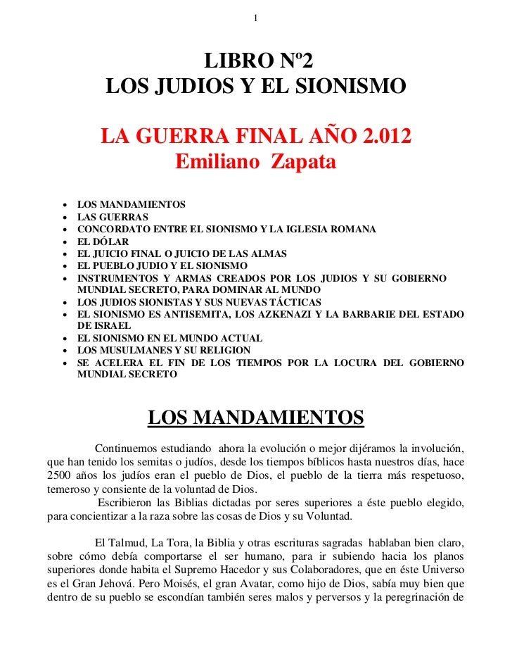 1                    LIBRO Nº2            LOS JUDIOS Y EL SIONISMO           LA GUERRA FINAL AÑO 2.012                Emil...