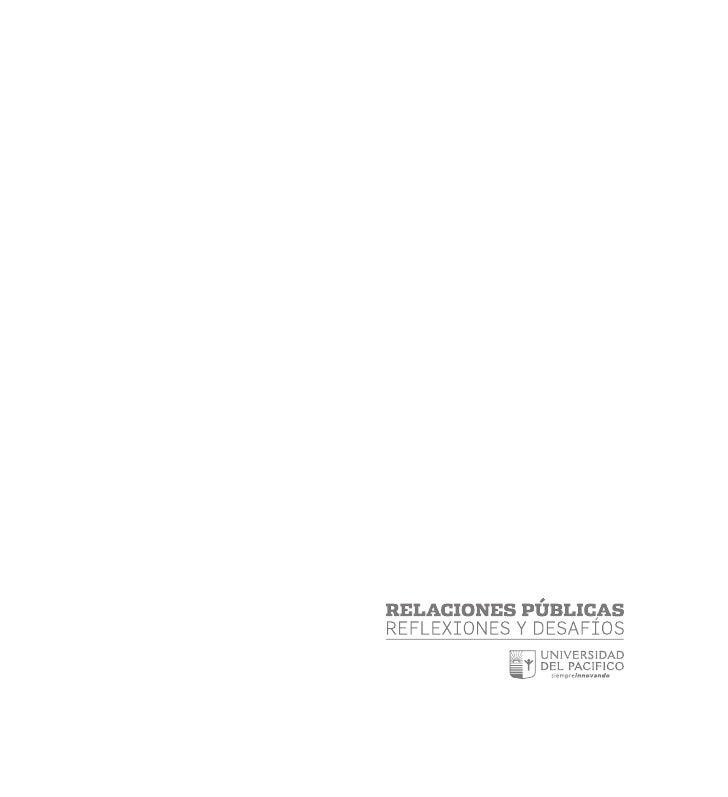 Libro Relaciones Públicas. Reflexiones y Proyecciones