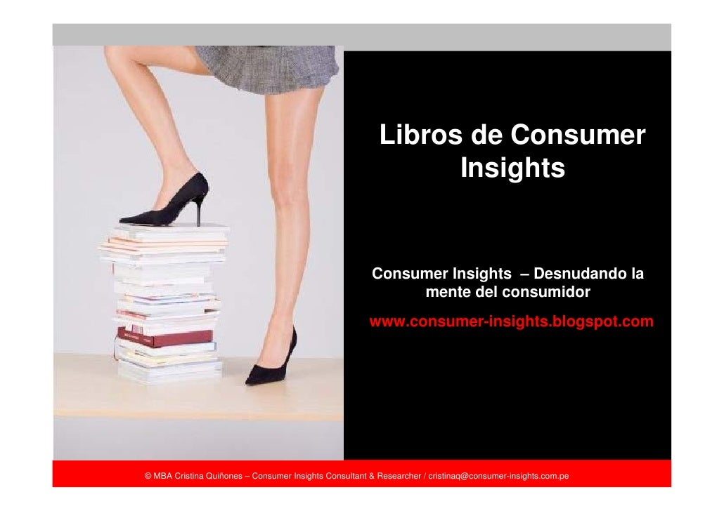 Libros de Consumer                                                                Insights                                ...
