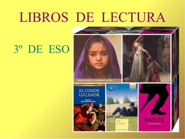 LIBROS DE LECTURA 3º DE ESO