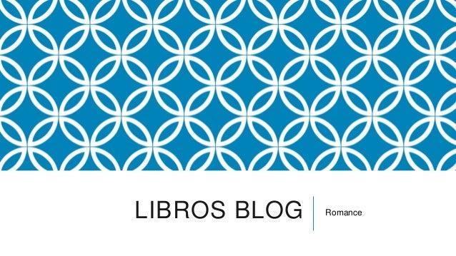 LIBROS BLOG   Romance