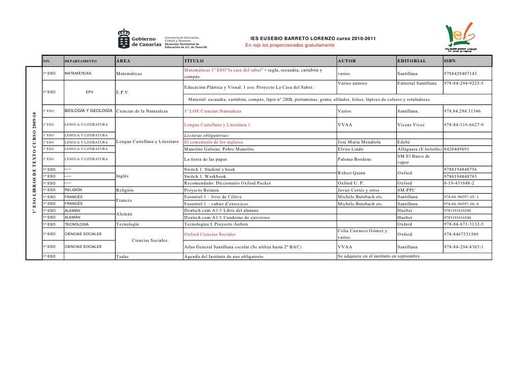 IES EUSEBIO BARRETO LORENZO curso 2010-2011                                                                               ...