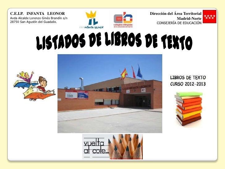C.E.I.P. INFANTA LEONOR                  Dirección del Área TerritorialAvda Alcalde Lorenzo Ginés Brandín s/n             ...