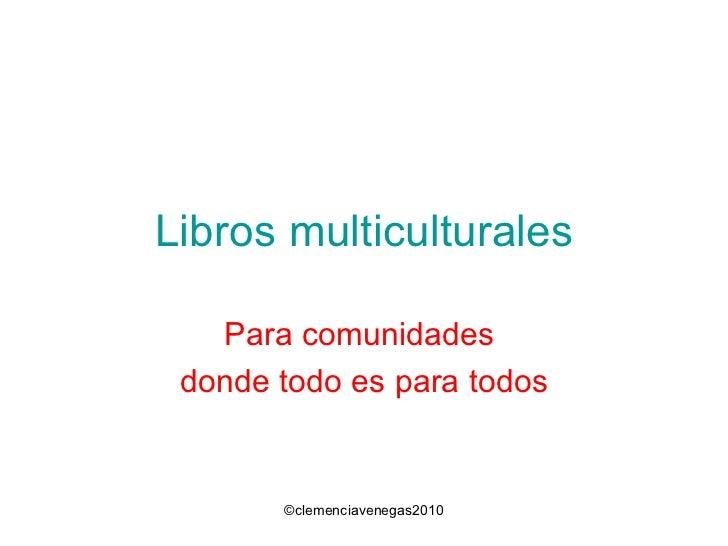 Libros multiculturales junio 2010