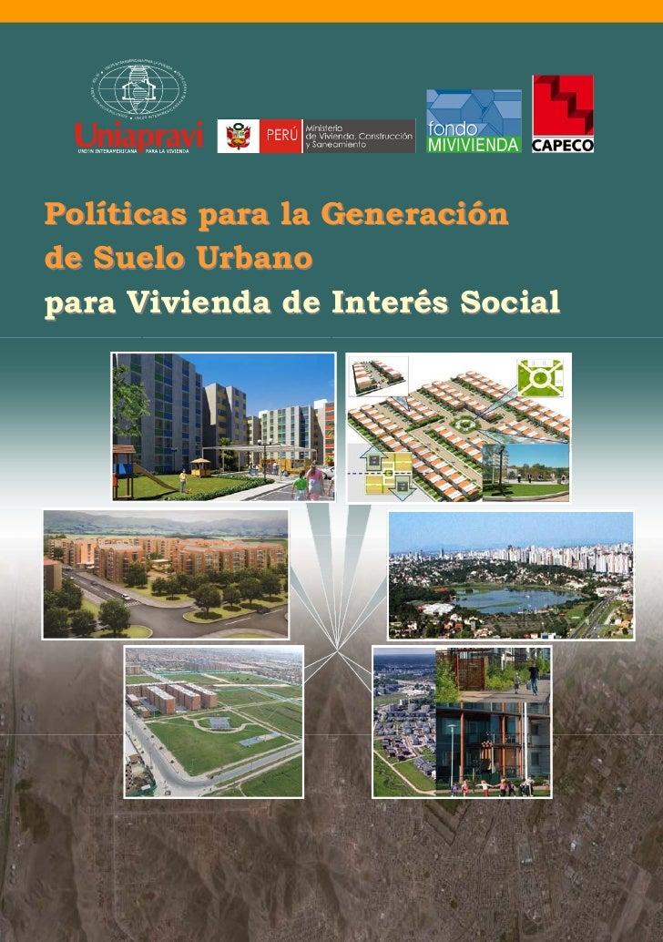 Generación de Suelo Urbano para Vivienda Social
