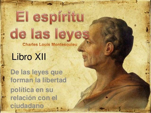 libro espiritu de las leyes: