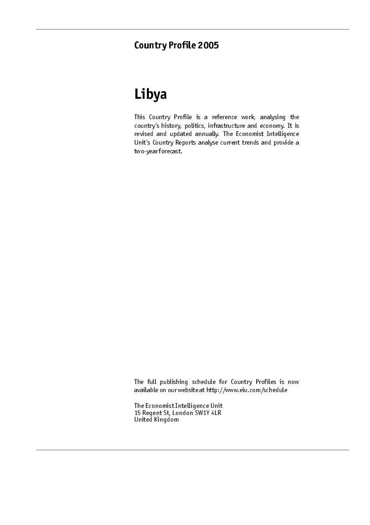 Libya - Country Profile 2005