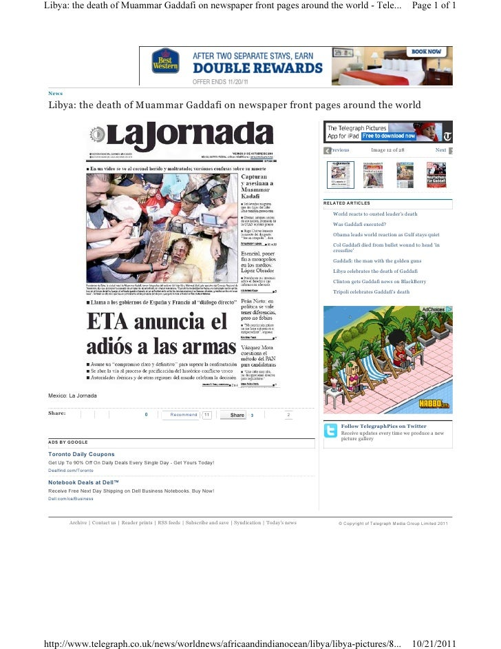 Libya gaddafi newspaper 8