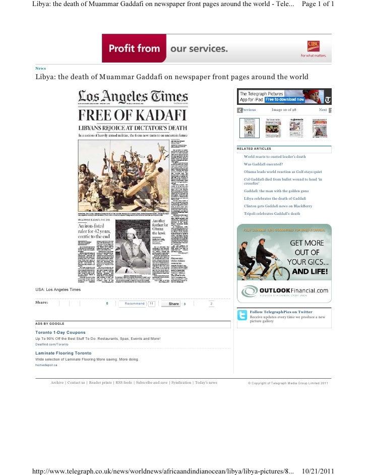 Libya gaddafi newspaper 6