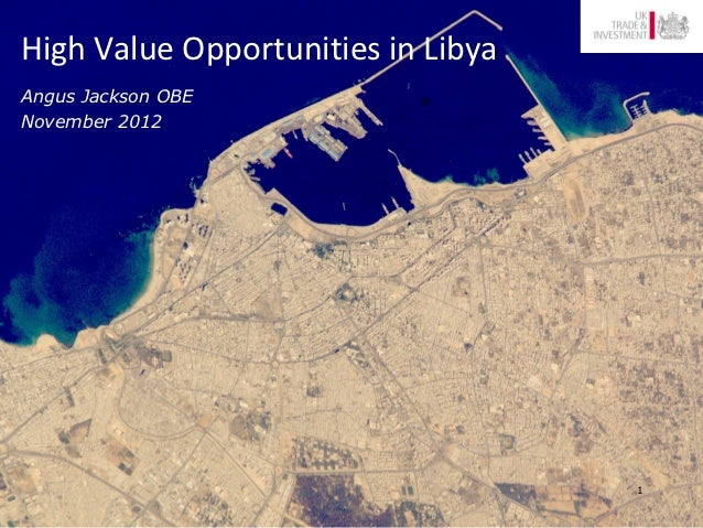 High Value Opportunities in LibyaAngus Jackson OBENovember 2012                                    1