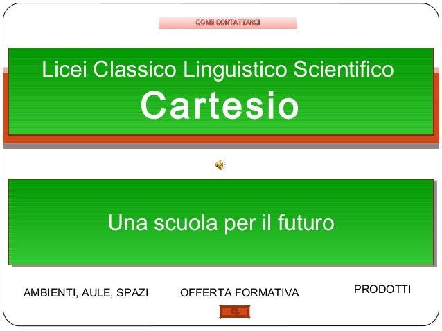 Licei scientifico e linguistico cartesio