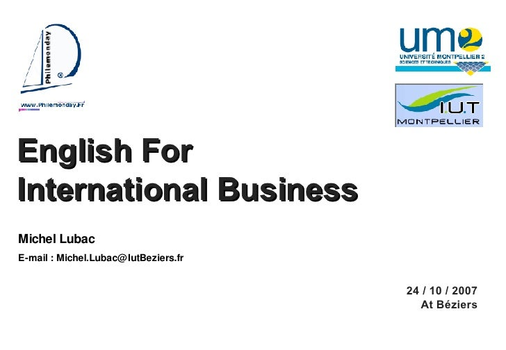 Licence Com Inter English For Business M Lubac 02 [Enregistrement Automatique]