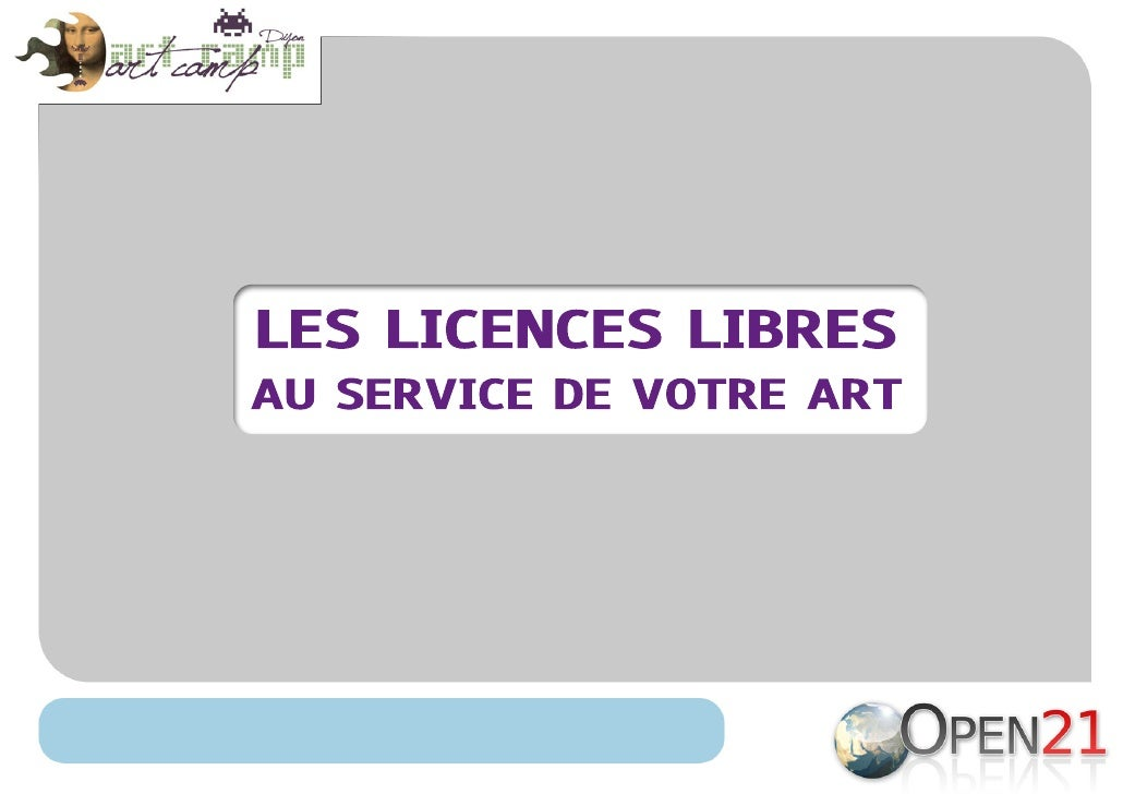 Licences Libres et Artistes
